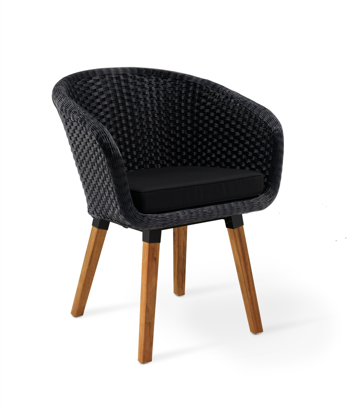 Shell chair with teak frame