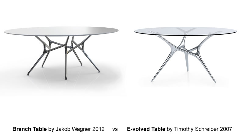Branch Table Chrome vs. E-volved