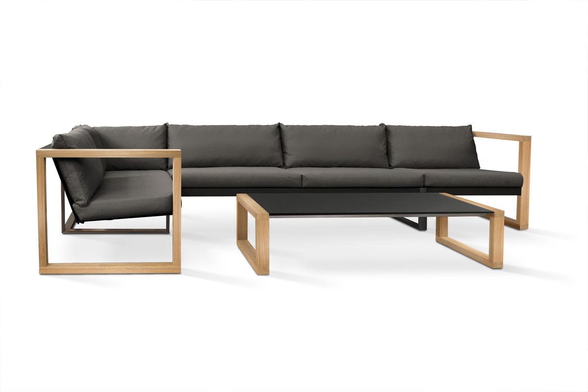 Lounge sofa outdoor teak  Banca Lounge Teak - CIMA LOUNGE Collection | FueraDentro - Outdoor ...