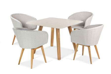 Shell Dining 100 Teak, click to enlarge