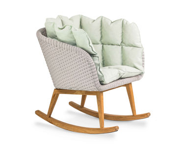 Shell Rocking Chair Teak, click to enlarge