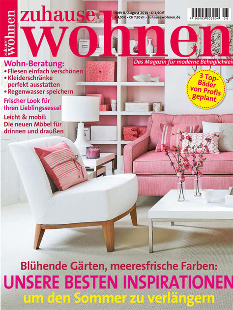 zuhause wohnen heft 8 august 2014 fueradentro designade utem bler. Black Bedroom Furniture Sets. Home Design Ideas