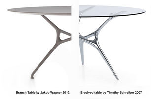Cappellini Branch Table by Jakob Wagner copy of E-volved table?