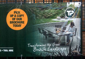Travis Perkins uses FueraDentro furniture on billboards