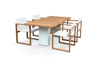 Doble with teak table top