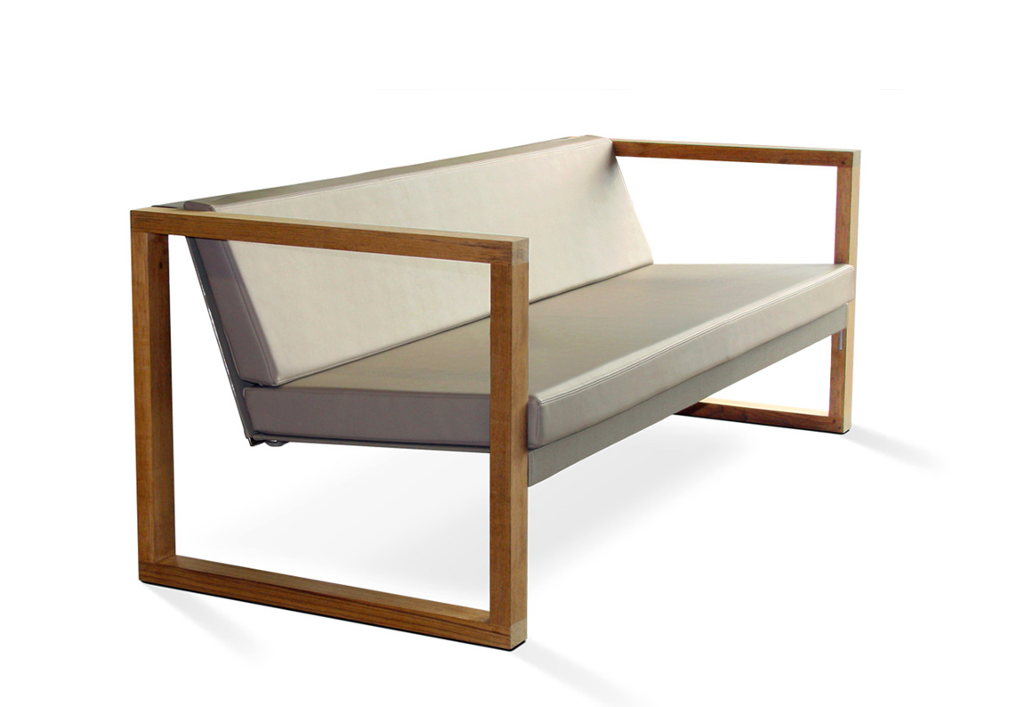 Lounge sofa outdoor teak  Banca Lounge Teak - CIMA LOUNGE Kollektion | FueraDentro - Design ...