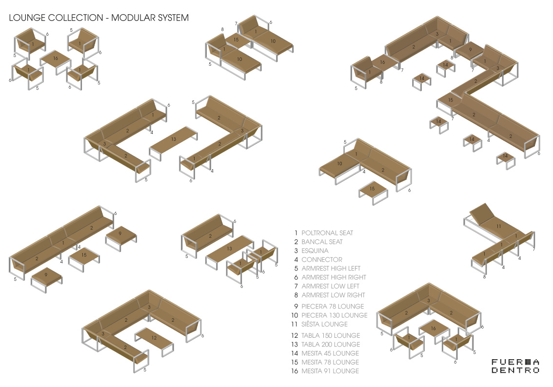 Modular Lounge System Cima Lounge Collection