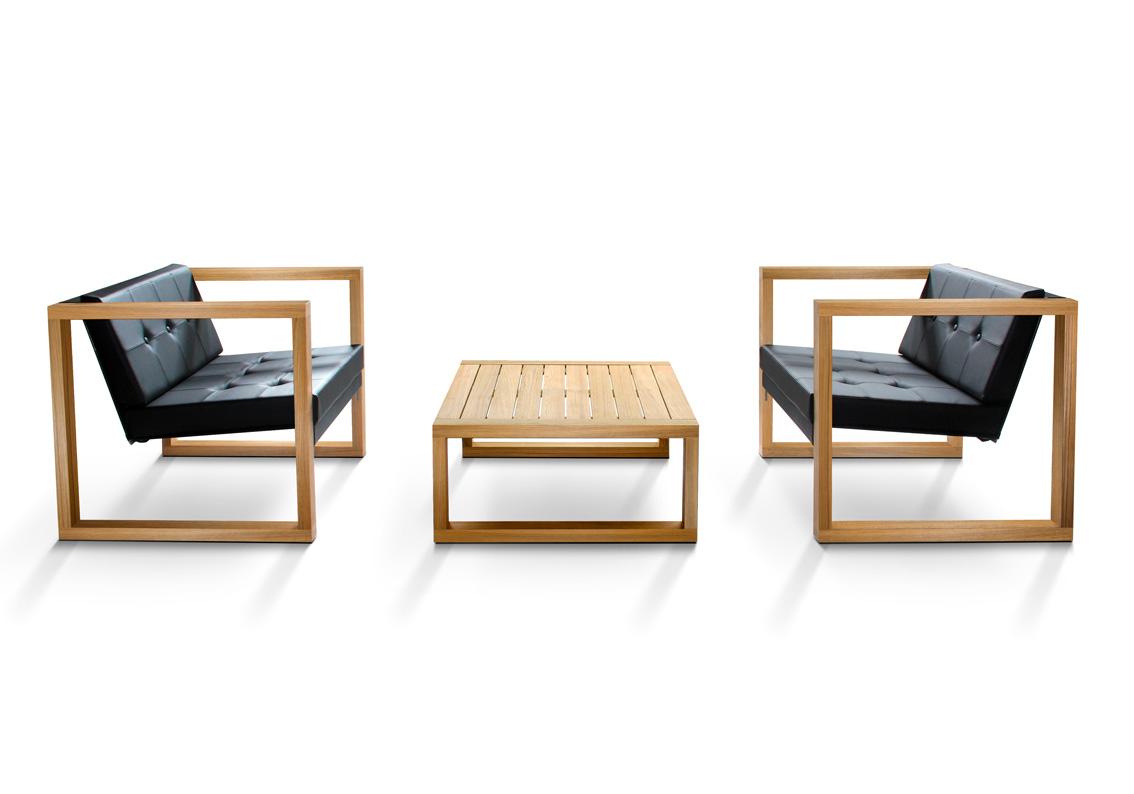 Banca Lounge Teak Cima Lounge Kollektion Fueradentro Designade