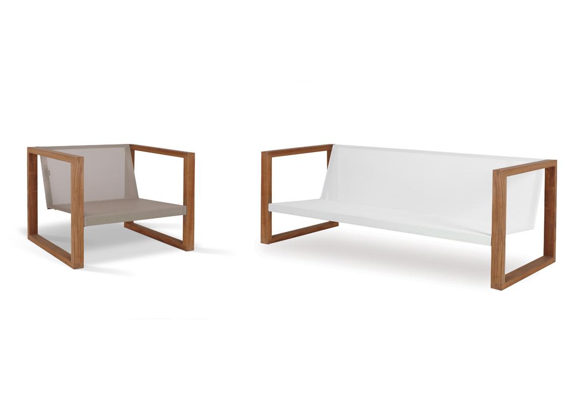 Banca Lounge Teak Cima Lounge Collection Fueradentro