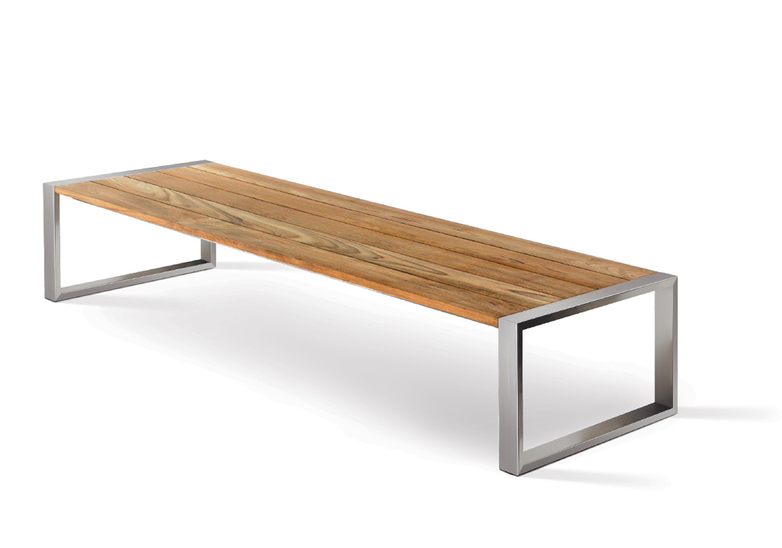 Modular lounge furniture - Fueradentro Tabla Lounge 150 Amp 200 Low Table Cima Lounge Collection
